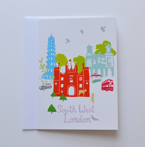 "South West London Buildings 5x7"" Greeting Card"