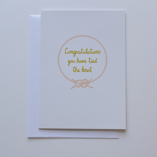 "Congratulations you have tied the knot 5x7"" Greeting Card"