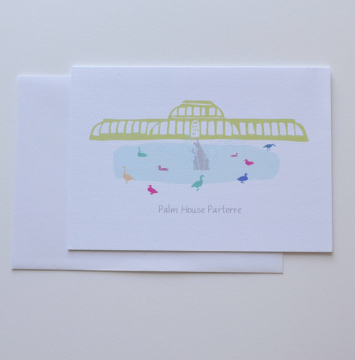 "Palm House Parterre, Kew Gardens 5x7"" Greeting Card"