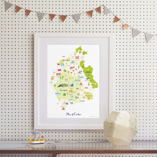 Map of Cumbria Art Print (Various Sizes)
