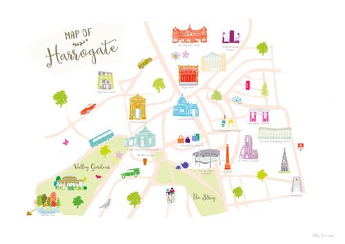 Map of Harrogate Art Print Various Sizes Holly Francesca