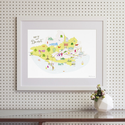 Map of Dorset Art Print (Various Sizes)