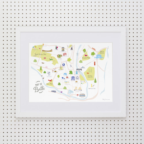 Map of Bath Art Print (Various Sizes)
