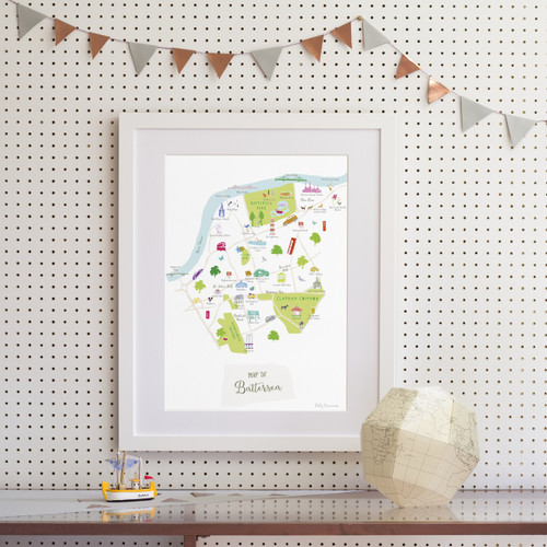 Map of Battersea Art Print (Various Sizes)