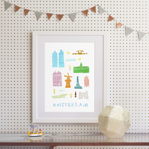 Amsterdam - Papercut Art Print (Various Sizes)