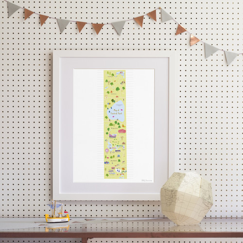 Map of Central Park, New York Art Print (Various Sizes)