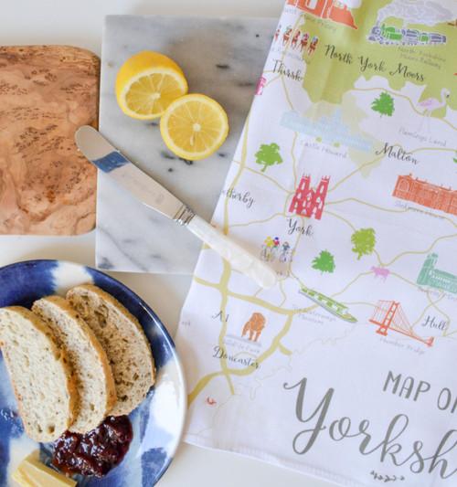 Map of Yorkshire Tea towel (20% Off)