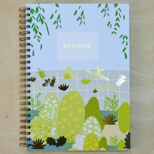 Swans Notebook - Spiral bound with Gold Foil