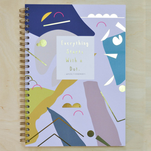 Wassily Kandinsky 'Everything starts with a dot.' Notebook - Spiral bound with Gold Foil