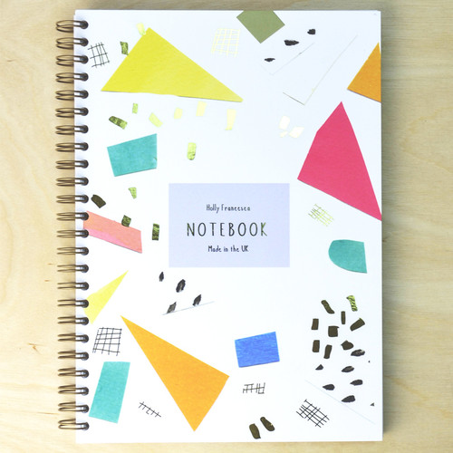Geo Notebook - Spiral bound with Gold Foil