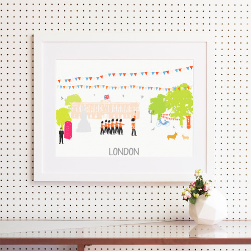 London Buckingham Palace Art Print (Various Sizes)