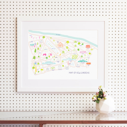 Map of Kew Gardens Art Print (Various Sizes)