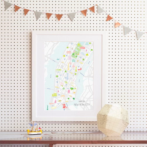 Map of New York City Art Print (Various Sizes)