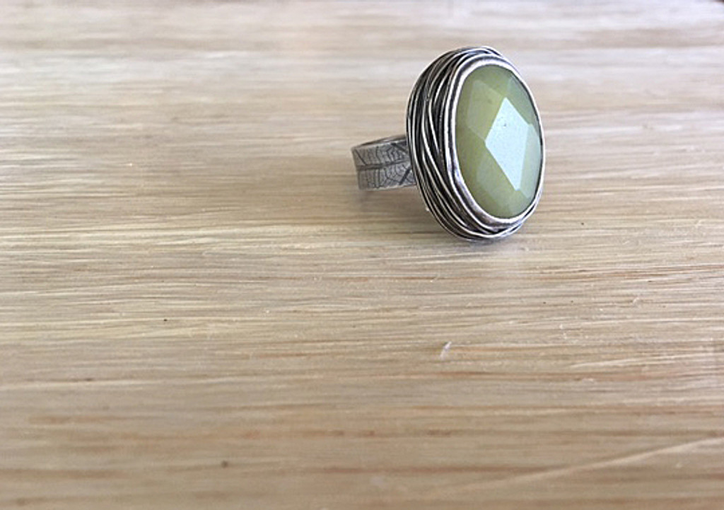 Large Oval Nested Ring