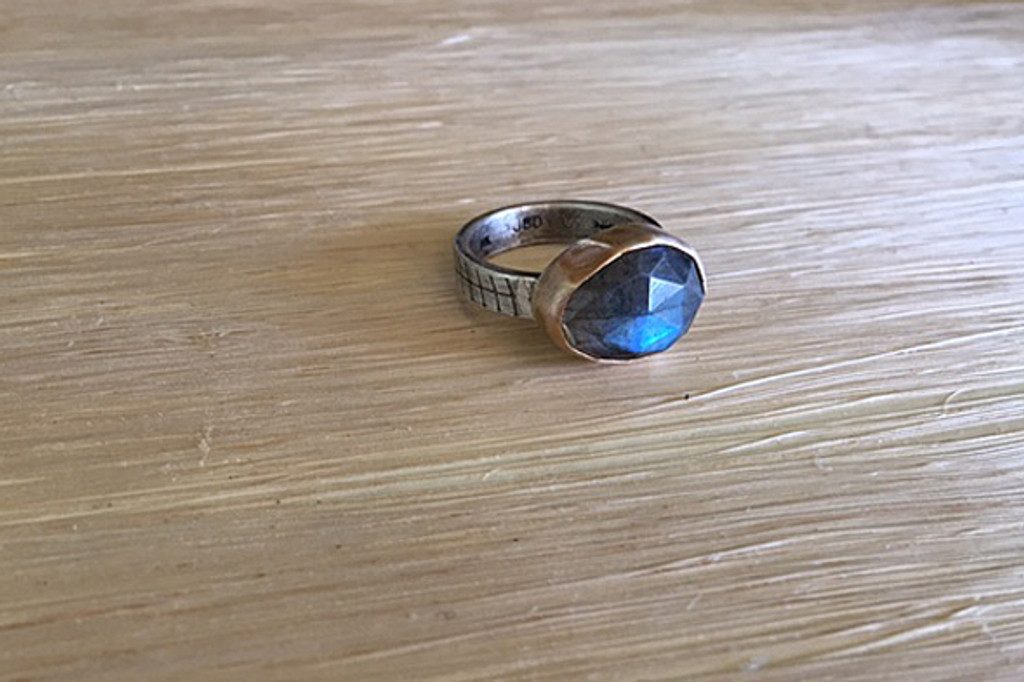 Rose Cut Mixed Metal Ring