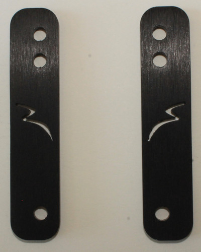 #103 Backing Frames.  Sold as 4 each (1 pair) with a Sticker. Black Anodized Finish