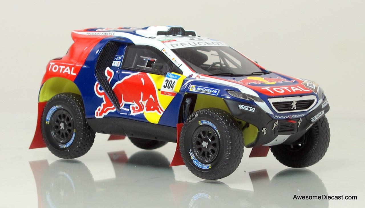 Spark 1:43 2015 Peugeot DKR Dakar Rally Car - Red Bull - Awesome Diecast