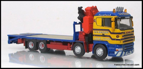 Oxford Diecast 1:72 Scania Flatbed w/ Crane: D.R. Macleod