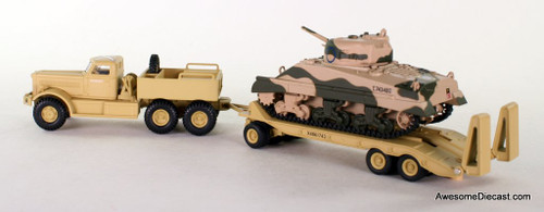 Oxford Diecast 1:76 1942 Diamond T980 Tank Transporter w/ Sherman Tank