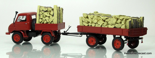 Schuco 1:43  Unimog U411 w/ Trailer & Timber Cargo