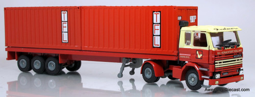 Tekno 1:50 Scania 142H w/ Frame Flatbed & Shipping Containers - TFL