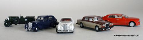 Oxford Diecast 1:76 5-Piece Bentley Historical Set