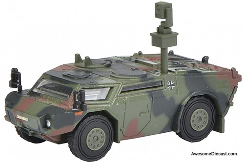Schuco 1:87 Fennek Scouting Vehicle Camouflaged: German Federated Armed Forces