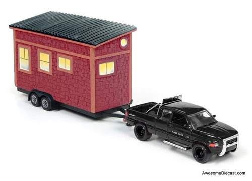 Johnny Lightning 1:64 1996 Dodge Ram 1500 Pick Up w/ Tiny House
