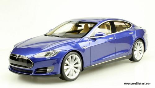 Lucky Step 1:18 Tesla Model S Sedan: Metallic Blue