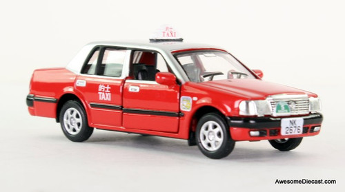 Tiny Toyota Crown Comfort Taxi: Hong Kong, Urban