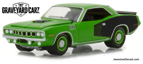 Greenlight 1:64 1970 Plymouth Hemi Cuda, Green/Black