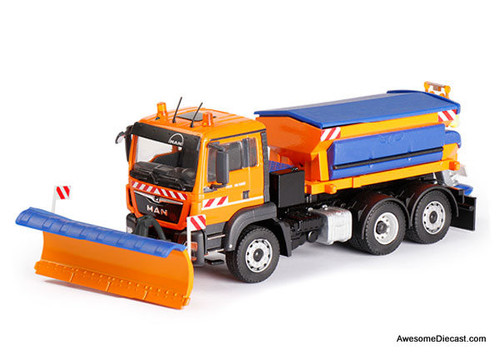 Conrad 1:50 Kommunal MAN TGS Euro 6 with Snow Plow and Salt Spreader Unit