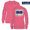 Youth Patchwork Logo Long Sleeve Simply Southern Tee Shirt