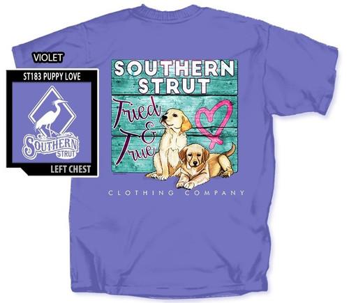 Puppy Love Tried & True Southern Strut Cotton Short Sleeve T Shirt