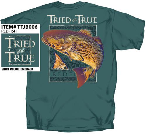 Redfish Spottail Bass Tried & True Cotton Short Sleeve T Shirt