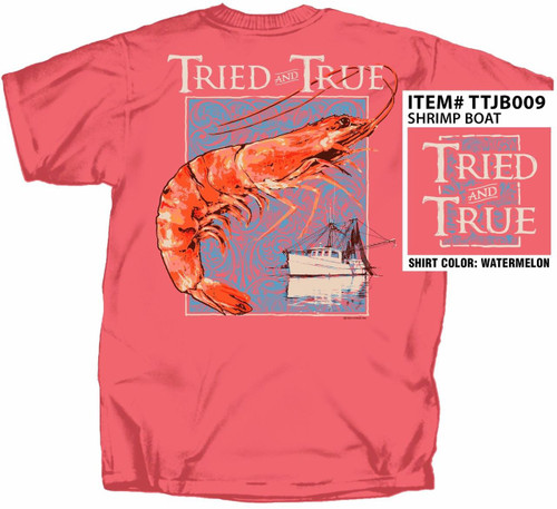 Shrimp & Commercial Net Boat Tried & True Cotton Short Sleeve T Shirt
