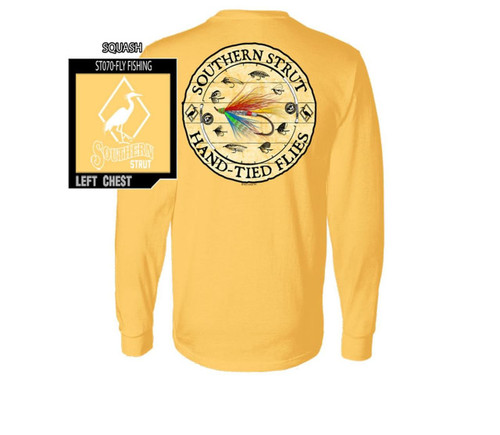Southern Strut Fly Fishing Flies & Reels Cotton Long Sleeve T Shirt