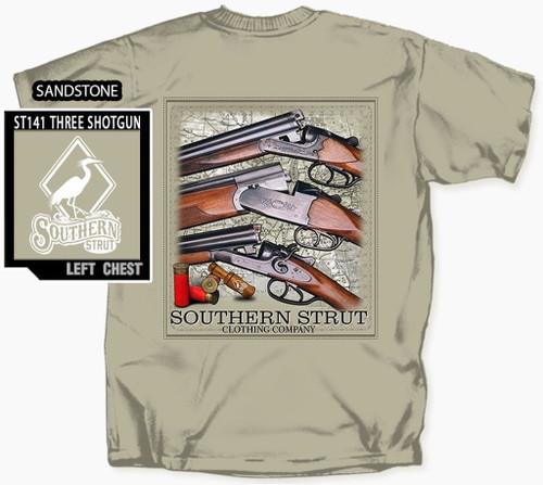 Southern Strut T Shirt 3 Shotguns Skeet Trap Hunting Cotton Short Sleeve