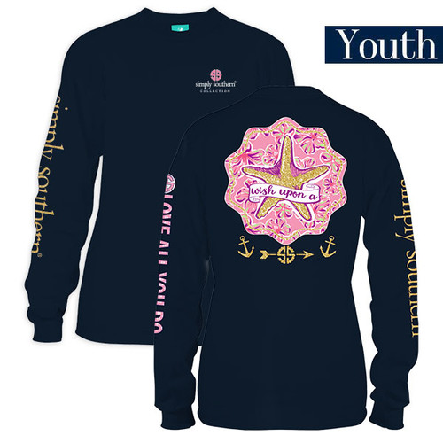 Youth Wish Upon A Star Long Sleeve Simply Southern Tee Shirt