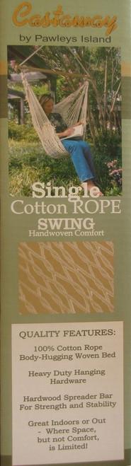 Castaway Single Cotton Rope Hammock SWING