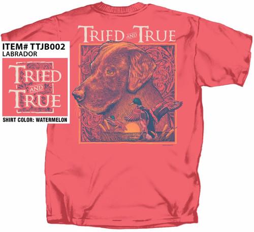 Labrador Mallards & Cattails Tried & True Cotton Short Sleeve T Shirt