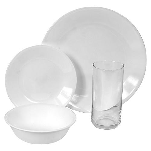 Corelle Livingware 1049550 Winter Frost White 16-piece Dinnerware Set w/Glasses  sc 1 st  GoGoods.com Inc. & Corelle Livingware 6022003 Winter Frost White 16-piece Dinnerware ...