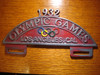 1932 Olympics Games Los Angeles Cal. Car License Plate (FOBS Toppers)