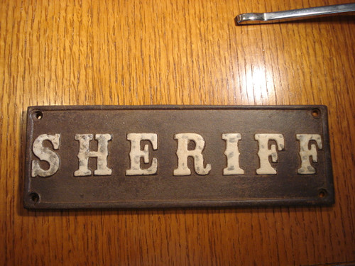 Sheriff's Office  Western Plaque