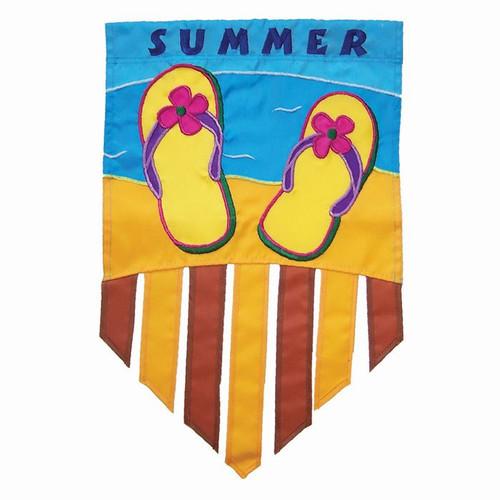 Summer Flip Flops Garden Flag Tails