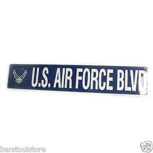Air Force Blvd Metal Street Sign