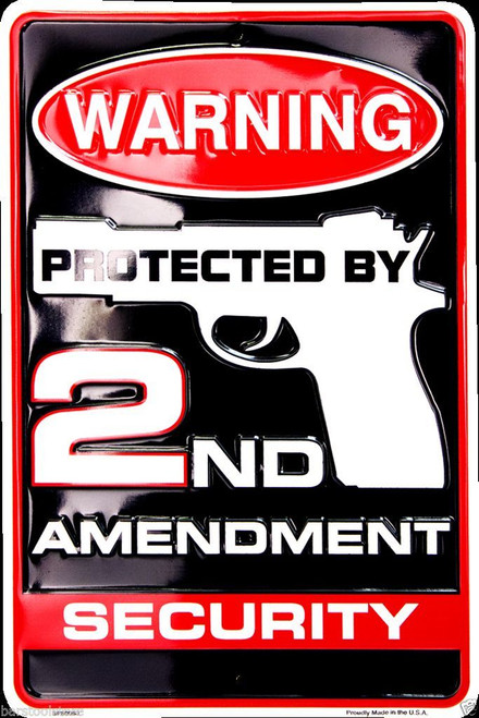 2nd Amendment Metal Parking Sign