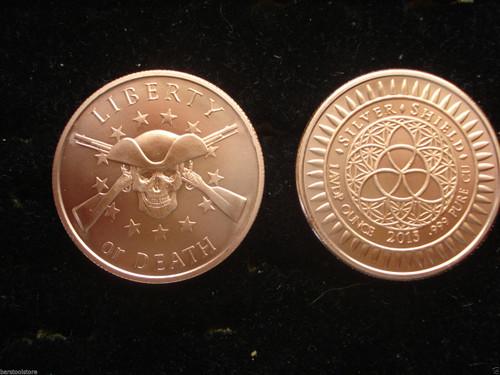 Liberty or Death Copper Round 1 oz .999 Fine
