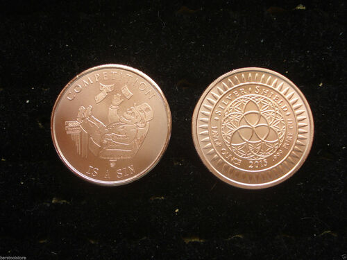 Competition Is A Sin Copper Round 1 oz .999 Fine