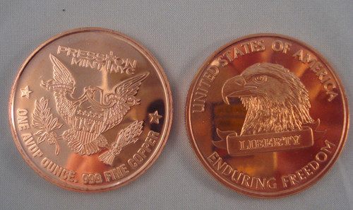 American Eagle Copper Round 1 oz .999 Fine